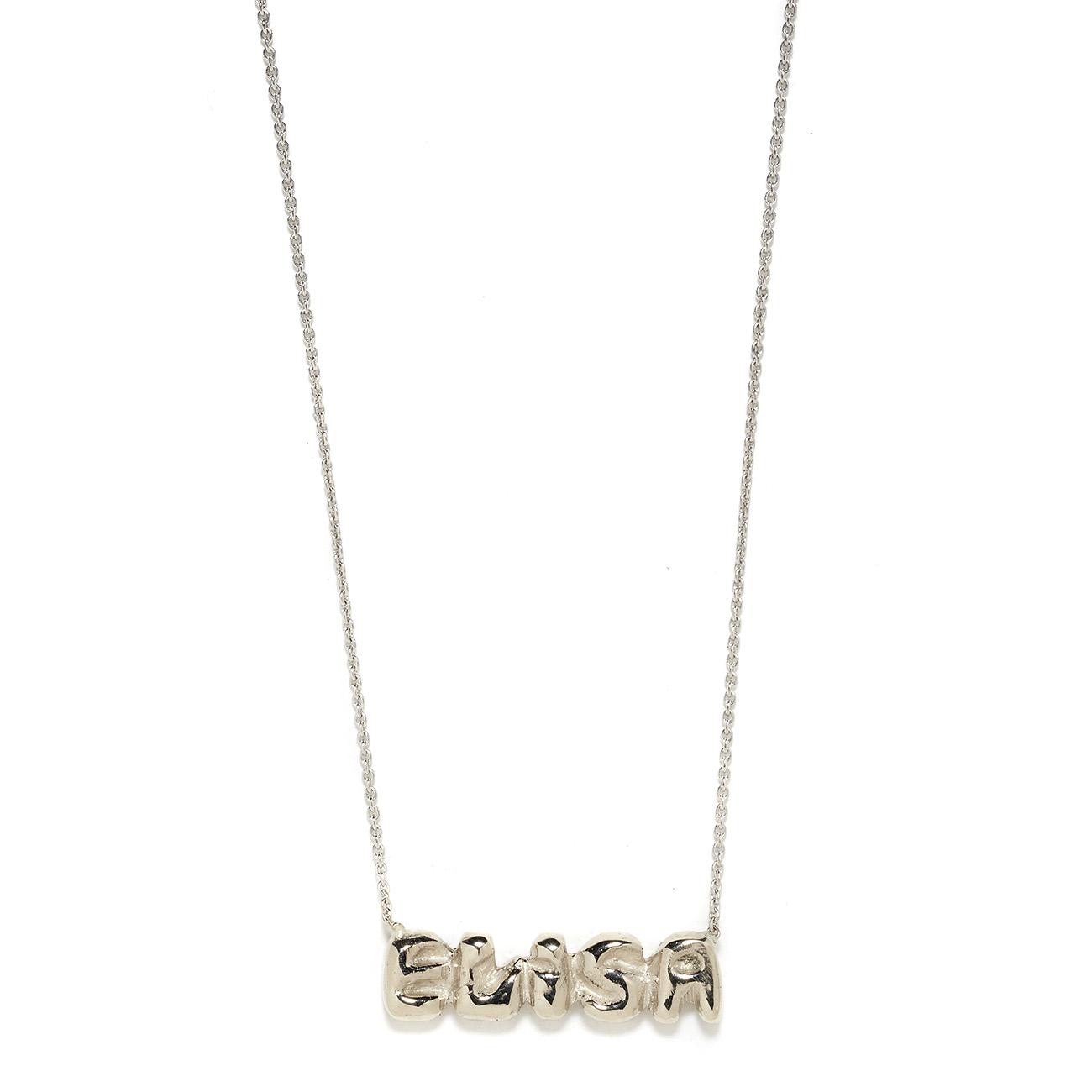 Elisa Solomon - White Gold Name Necklace