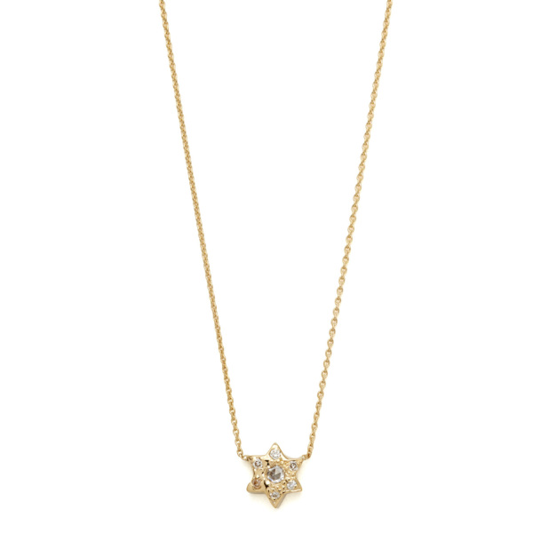 Elisa Solomon - Yellow Gold 6 Point Star Necklace