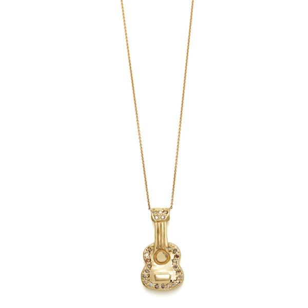 Elisa Solomon - Yellow Gold Brown Diamond Guitar Necklace