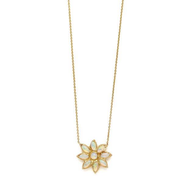 Elisa Solomon - Yellow Gold Flower Power Necklace
