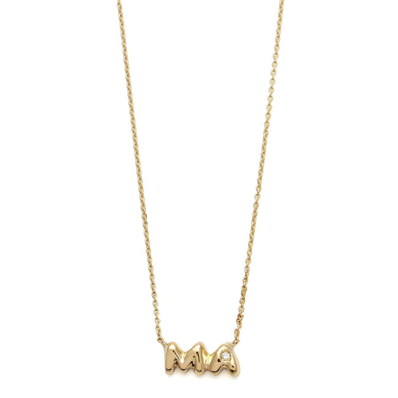 Elisa Solomon - Yellow Gold Ma Necklace