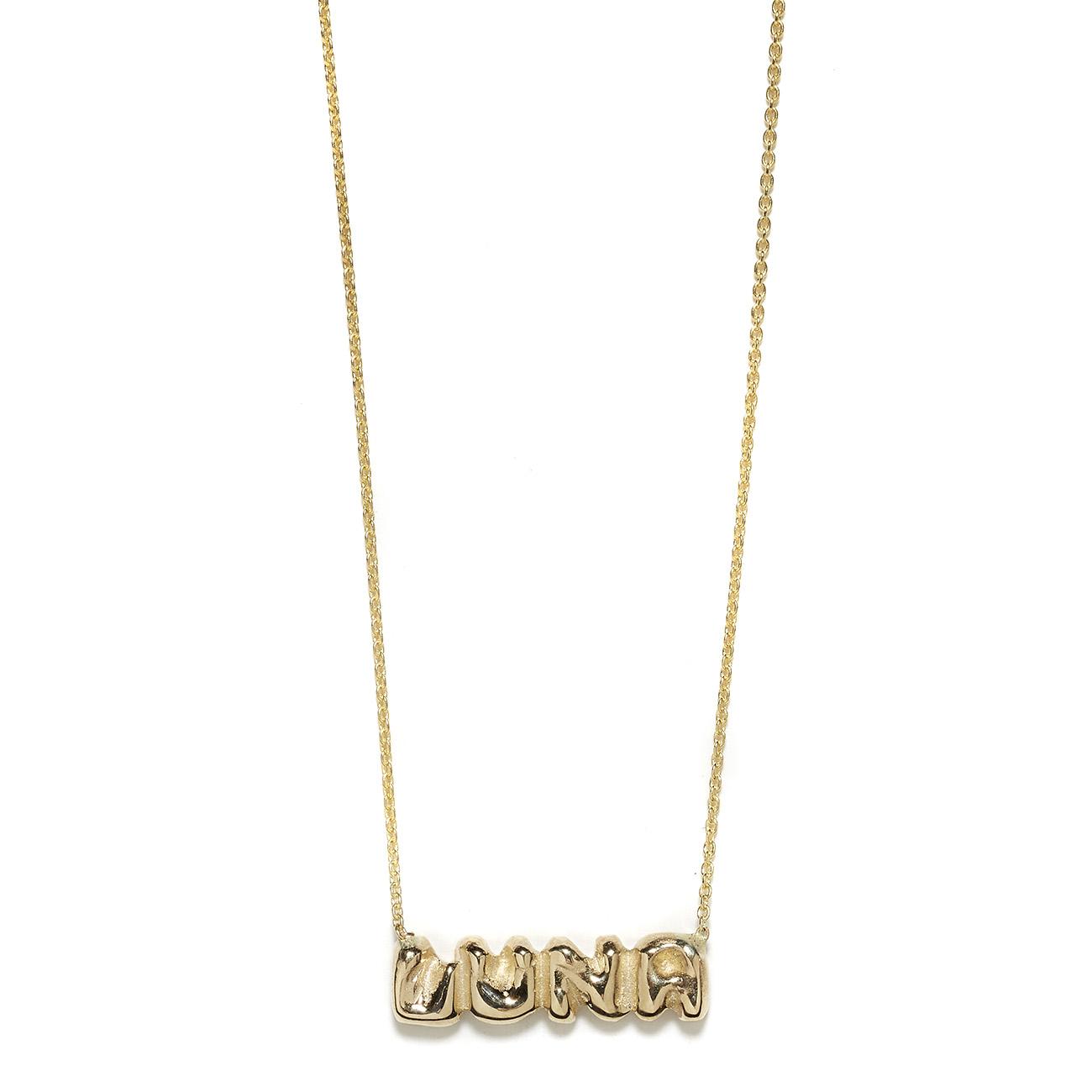 Elisa Solomon - Yellow Gold Name Necklace