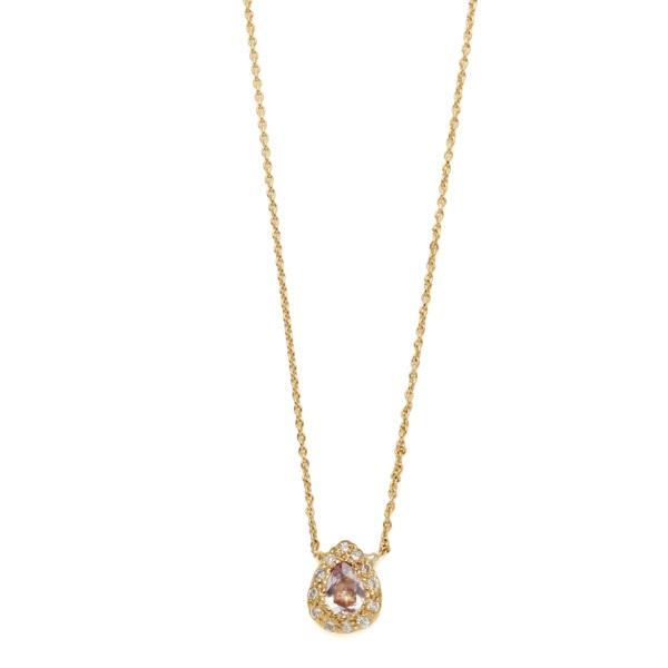 Elisa Solomon - Yellow Gold Pear Necklace