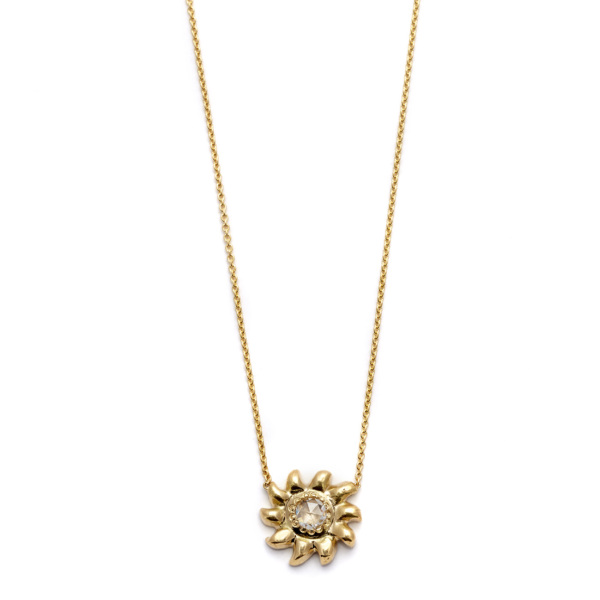 Elisa Solomon - Yellow Gold Sun Necklace