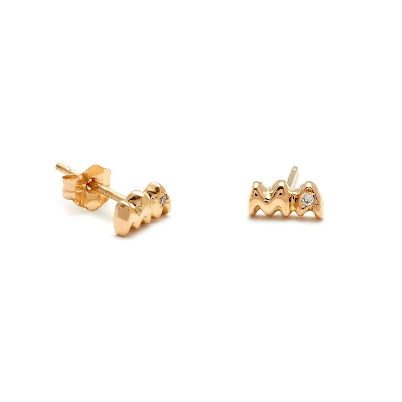 Yellow Gold Mama Studs Elisa Solomon Jewelry