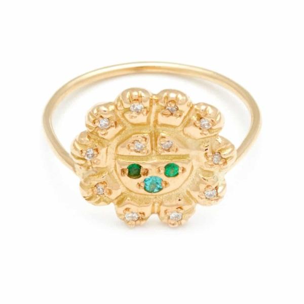 Yellow Gold Sun Spirit Ring