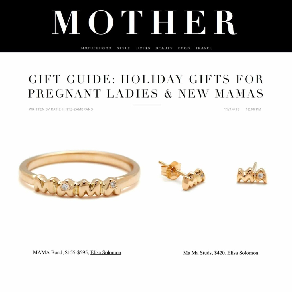 Handmade Mom Jewelry featured in MOTHER Mag - November 2018