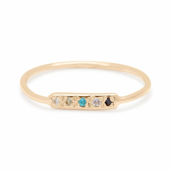 Skinny Bar Ring in 14k Yellow Gold