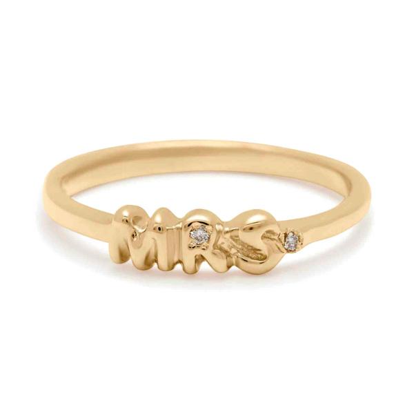 Mrs. Diamond Gold Ring