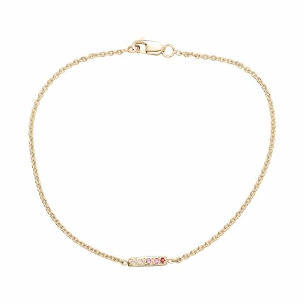 skinny bar bracelet yellow gold