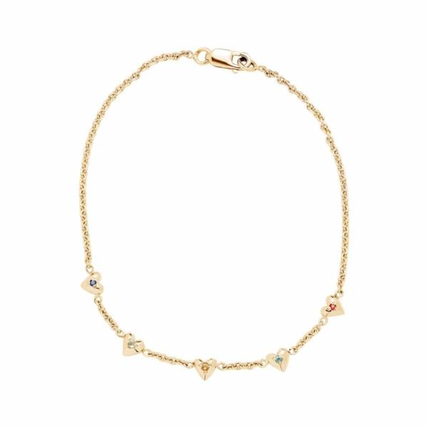 teeny tiny heart bracelet yellow gold