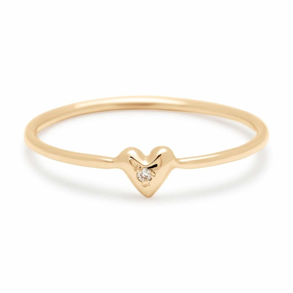Teeny Tiny Heart Ring in 14k Yellow Gold