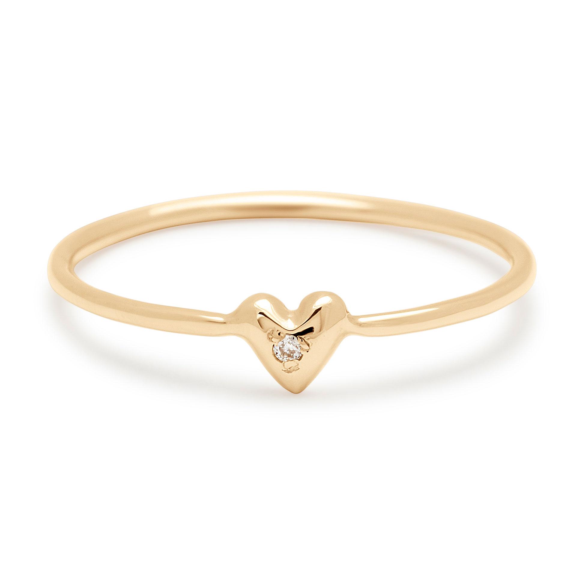 Teeny Tiny Heart Ring in 14k Yellow Gold