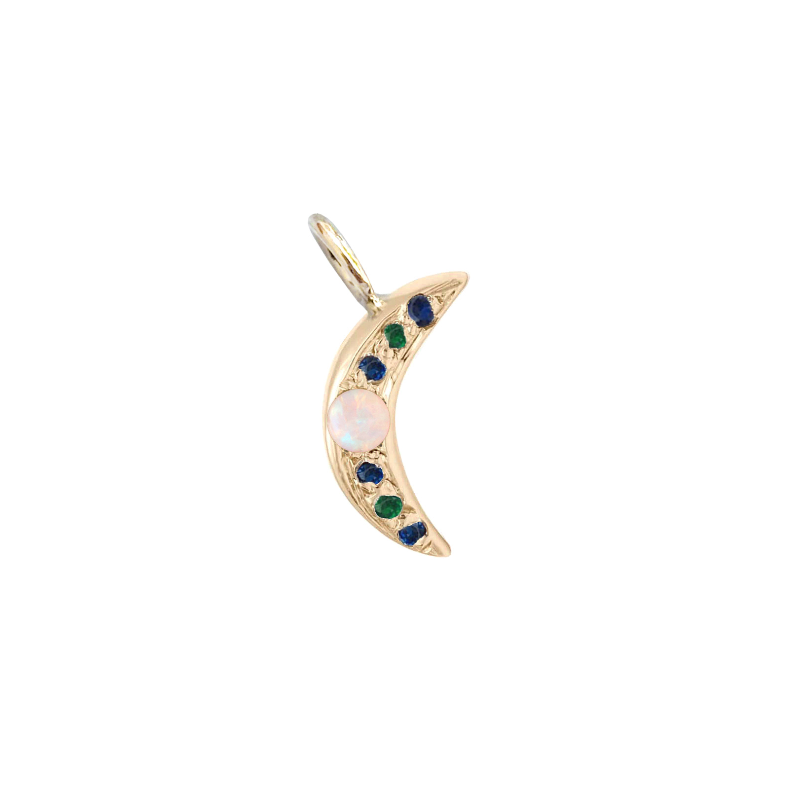 Yellow Gold Mini Moon Charm