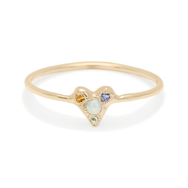 Custom Tiny Heart Ring