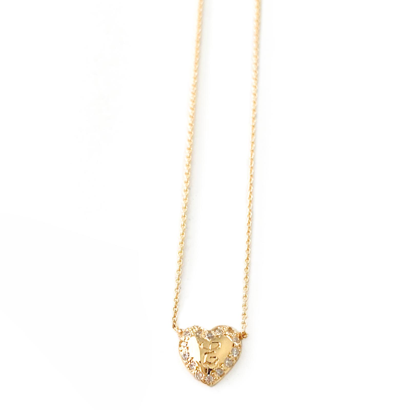 Diamond Open Heart Necklace