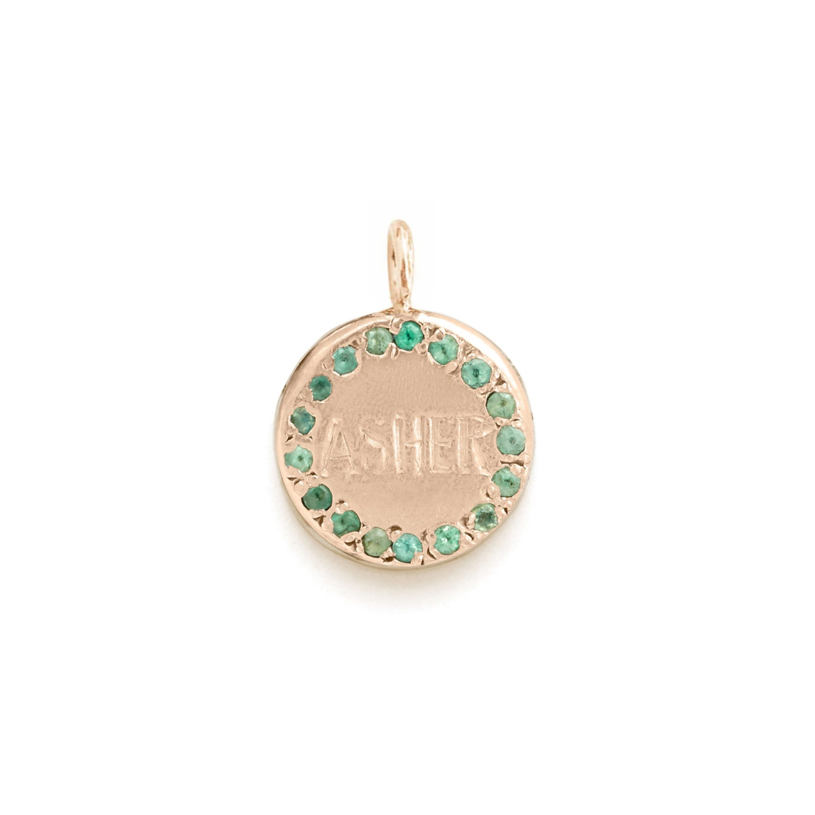 Circle Charm Jewel Collection - 14k Pink Gold
