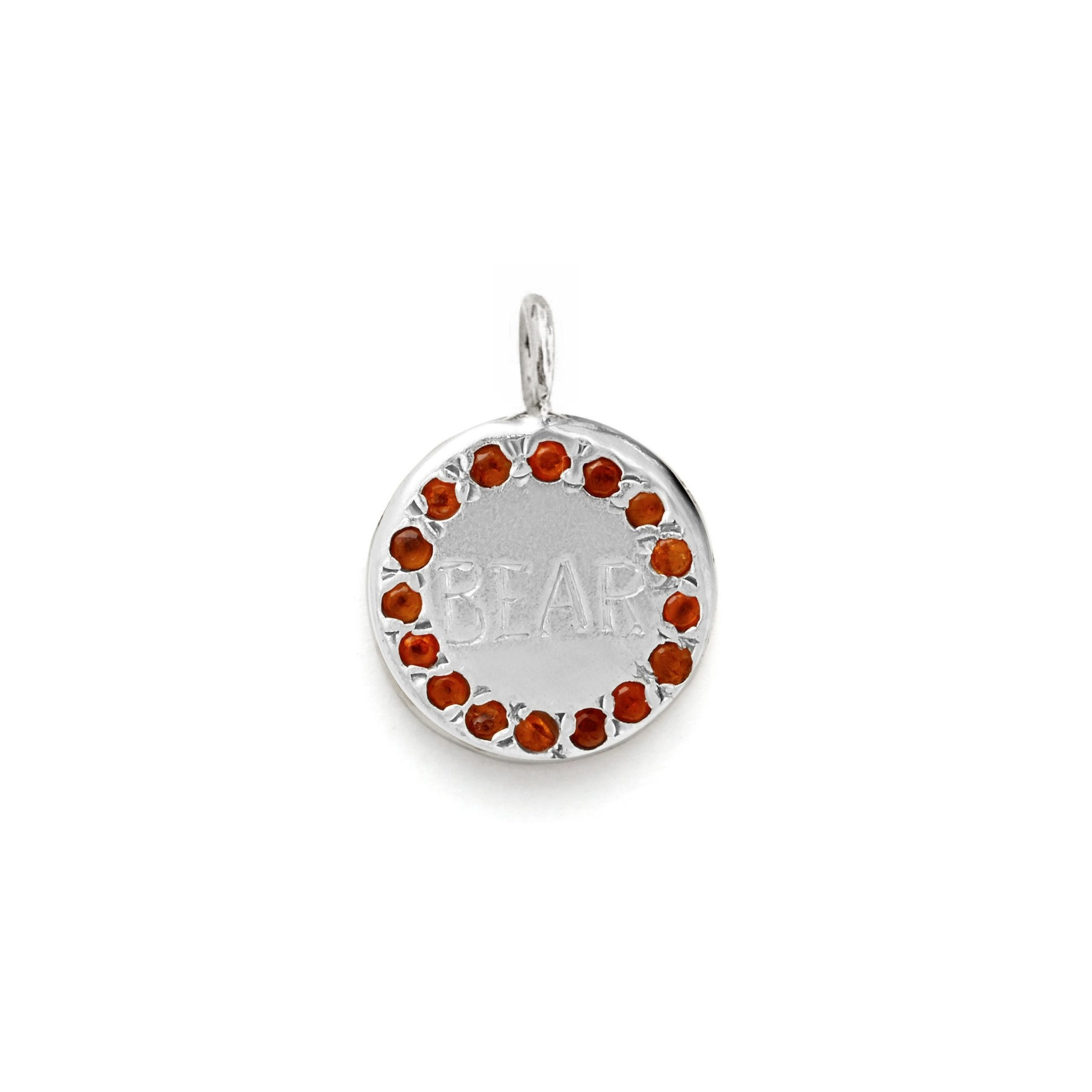 Circle Charm Jewel Collection - 14k White Gold 03
