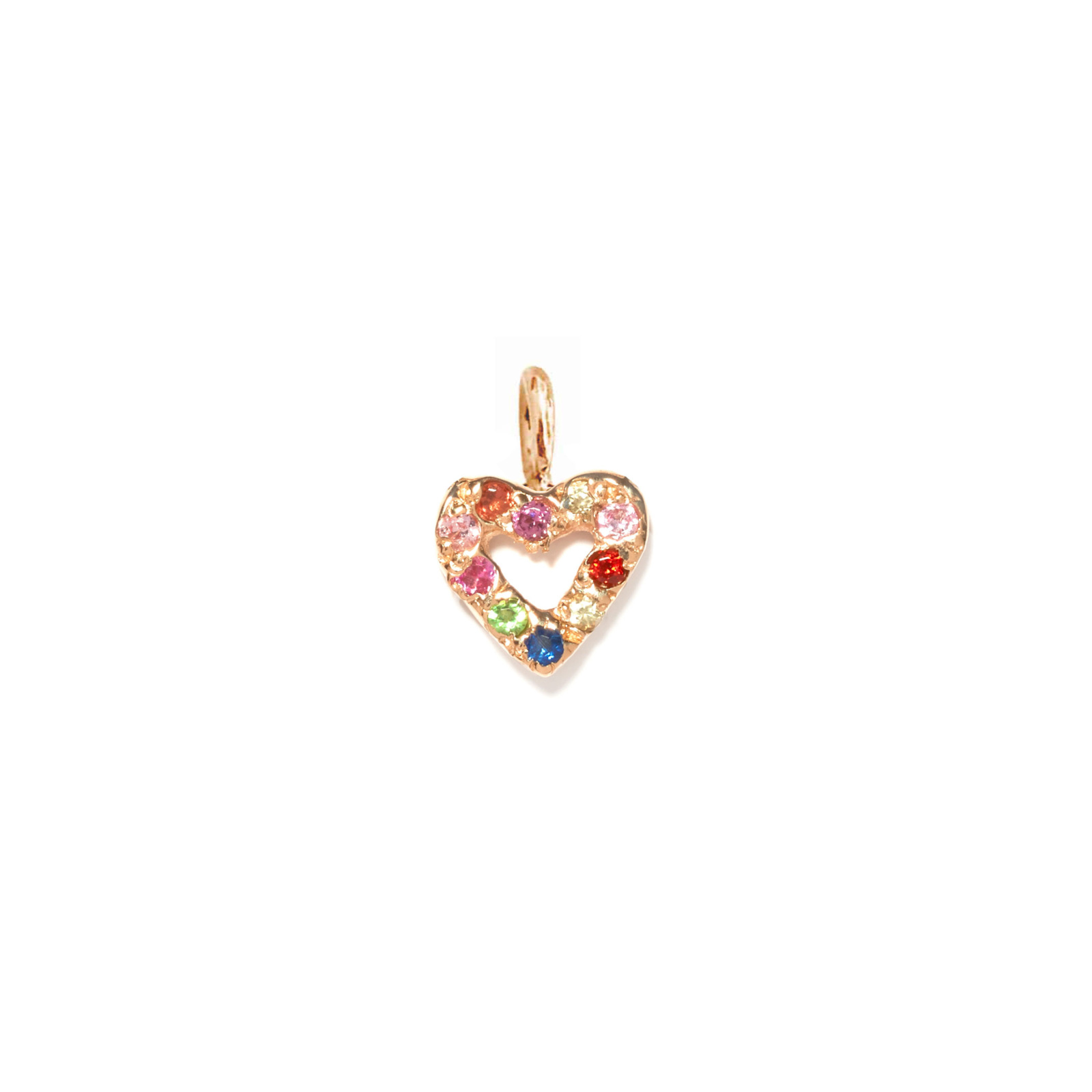 Heart Charm Jewel Collection 14k Pink Gold