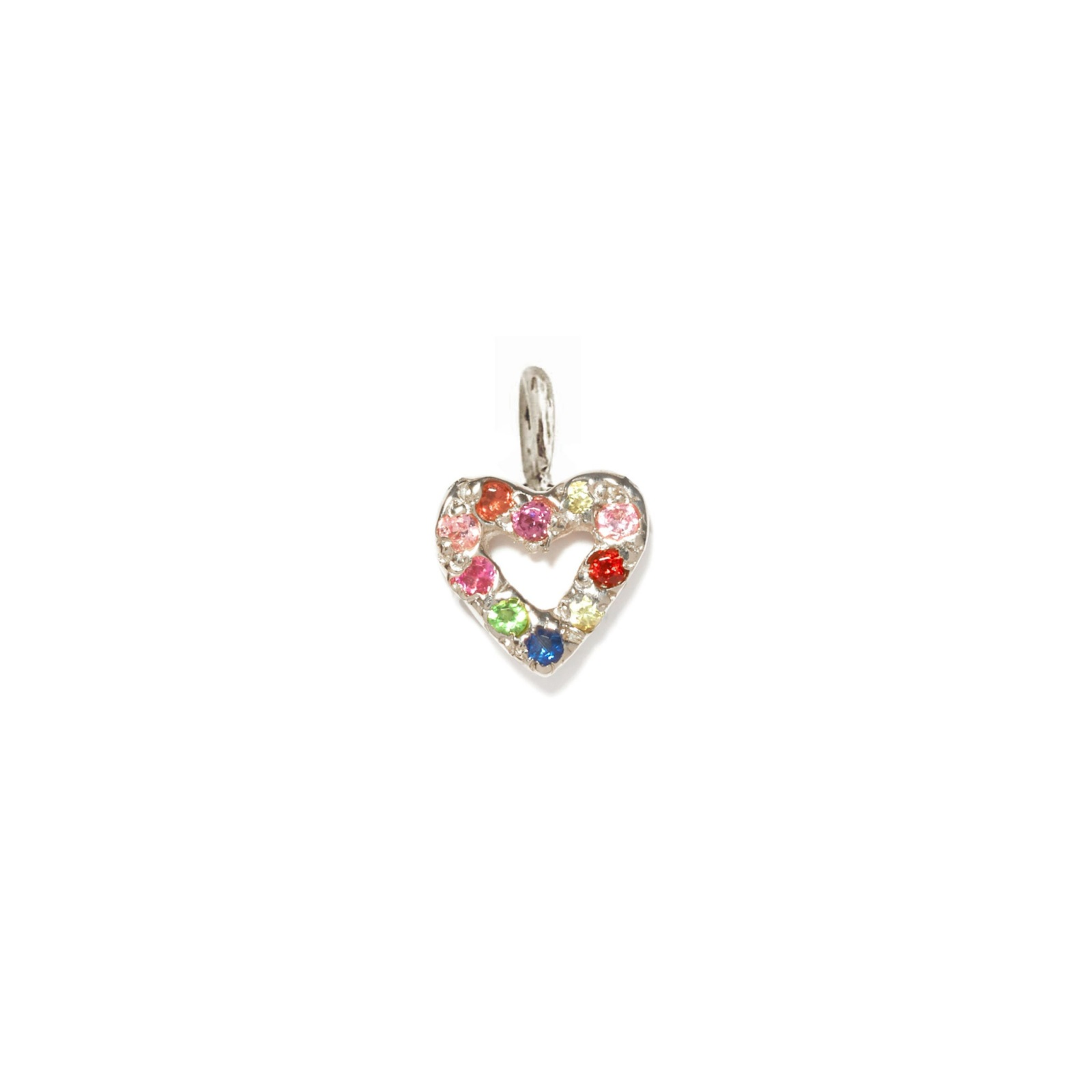 Heart Charm Jewel Collection 14k White Gold