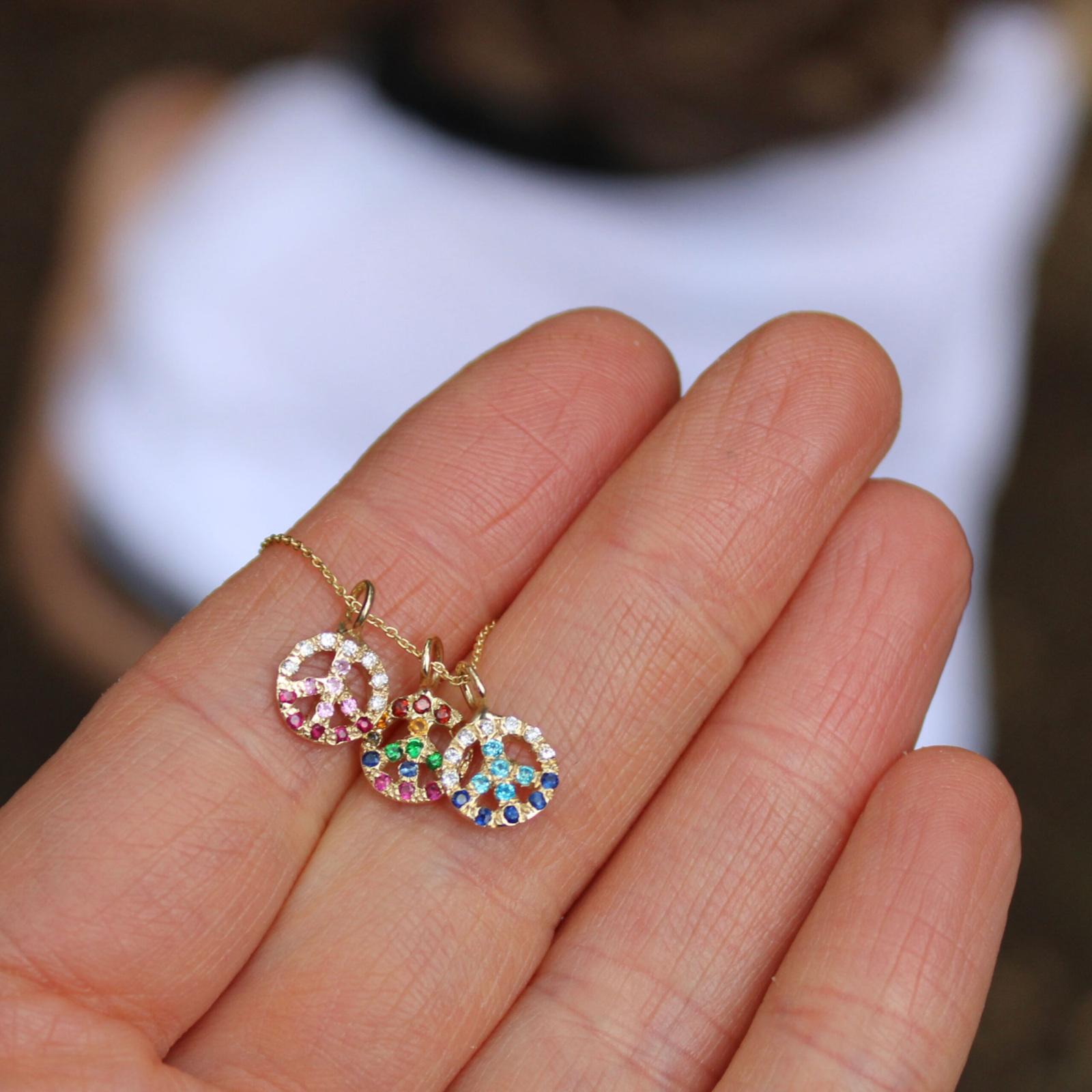 mini peace sign jewelry charms