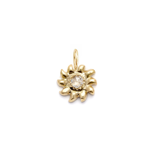 sun charm 14k yellow gold pendant necklace jewelry