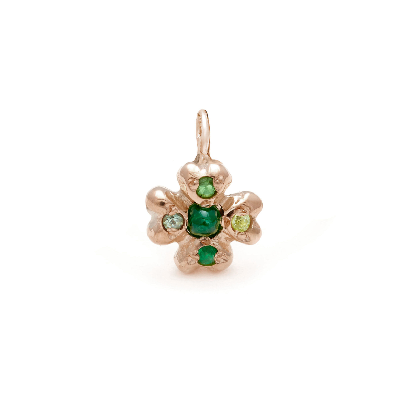 clover lucky charm jewelry - pink gold