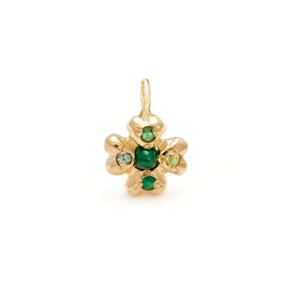 clover lucky charm jewelry - yellow gold