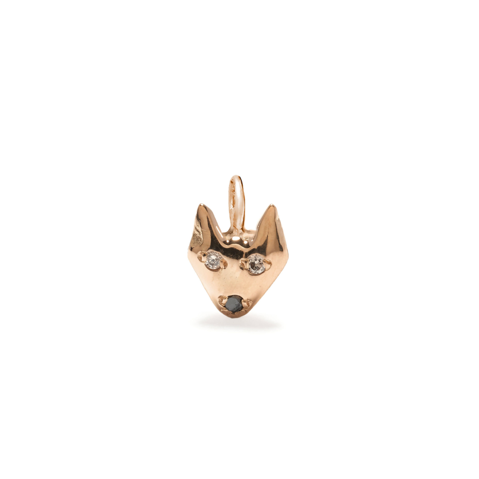puppy dog charm jewelry - pink gold