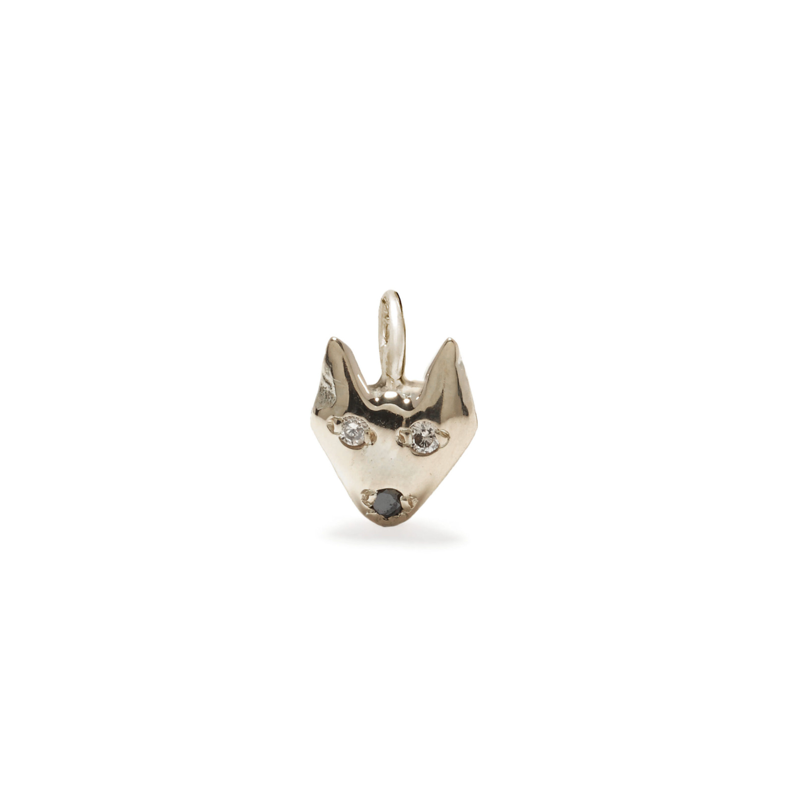 puppy dog charm jewelry - white gold