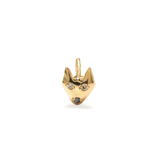 puppy dog charm jewelry - yellow gold