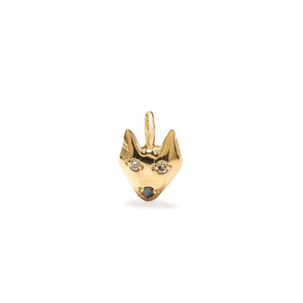 puppy dog charm jewelry - yellow gold