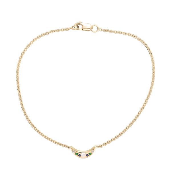 Custom Mini Moon Bracelet - Yellow Gold