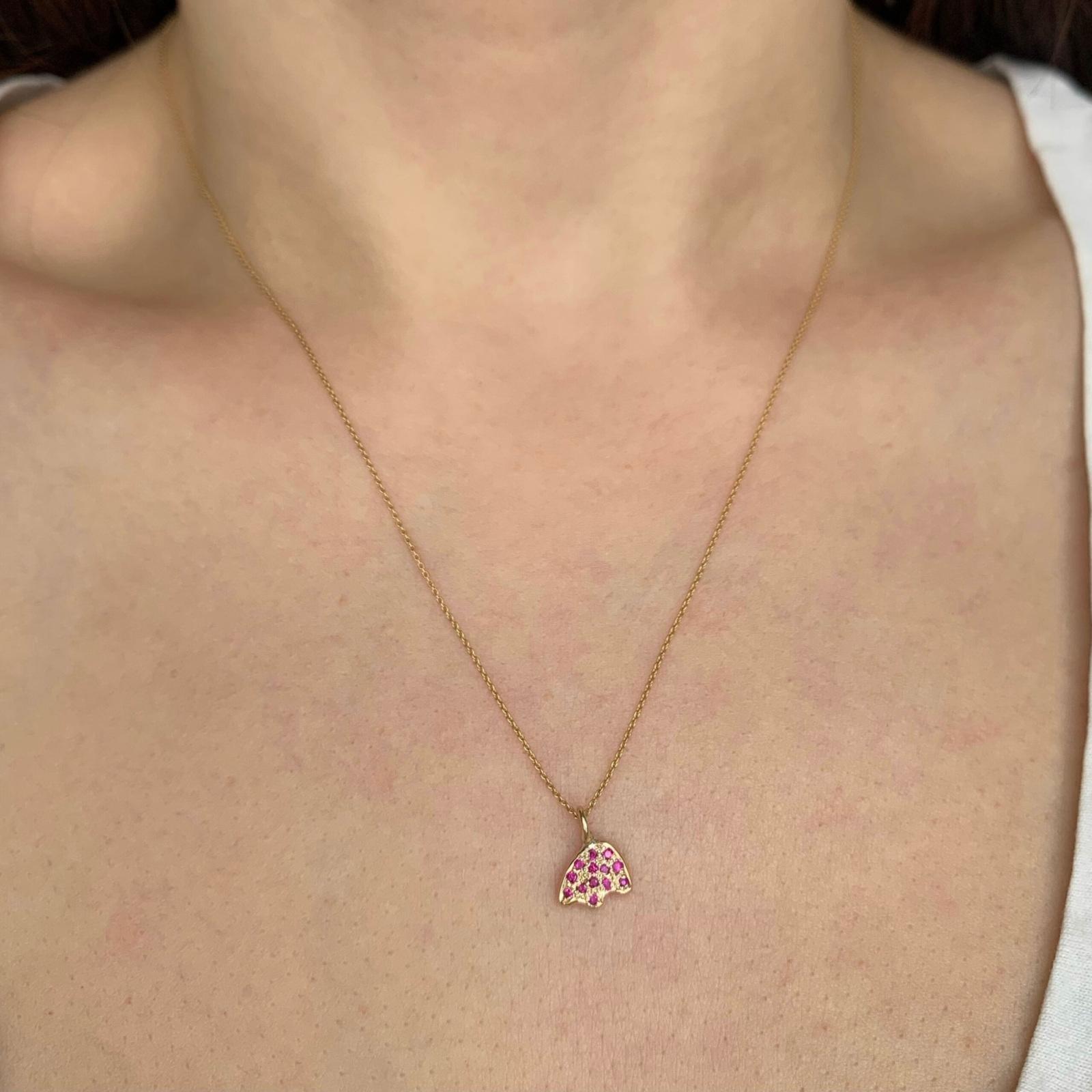 diamond bear charm necklace