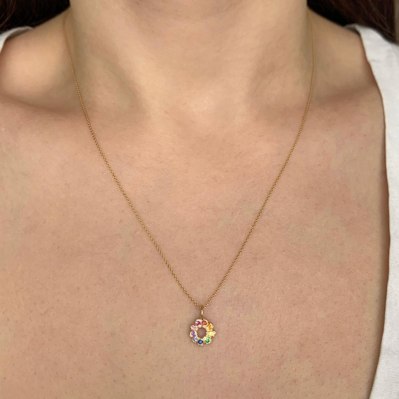 flower child charm necklace