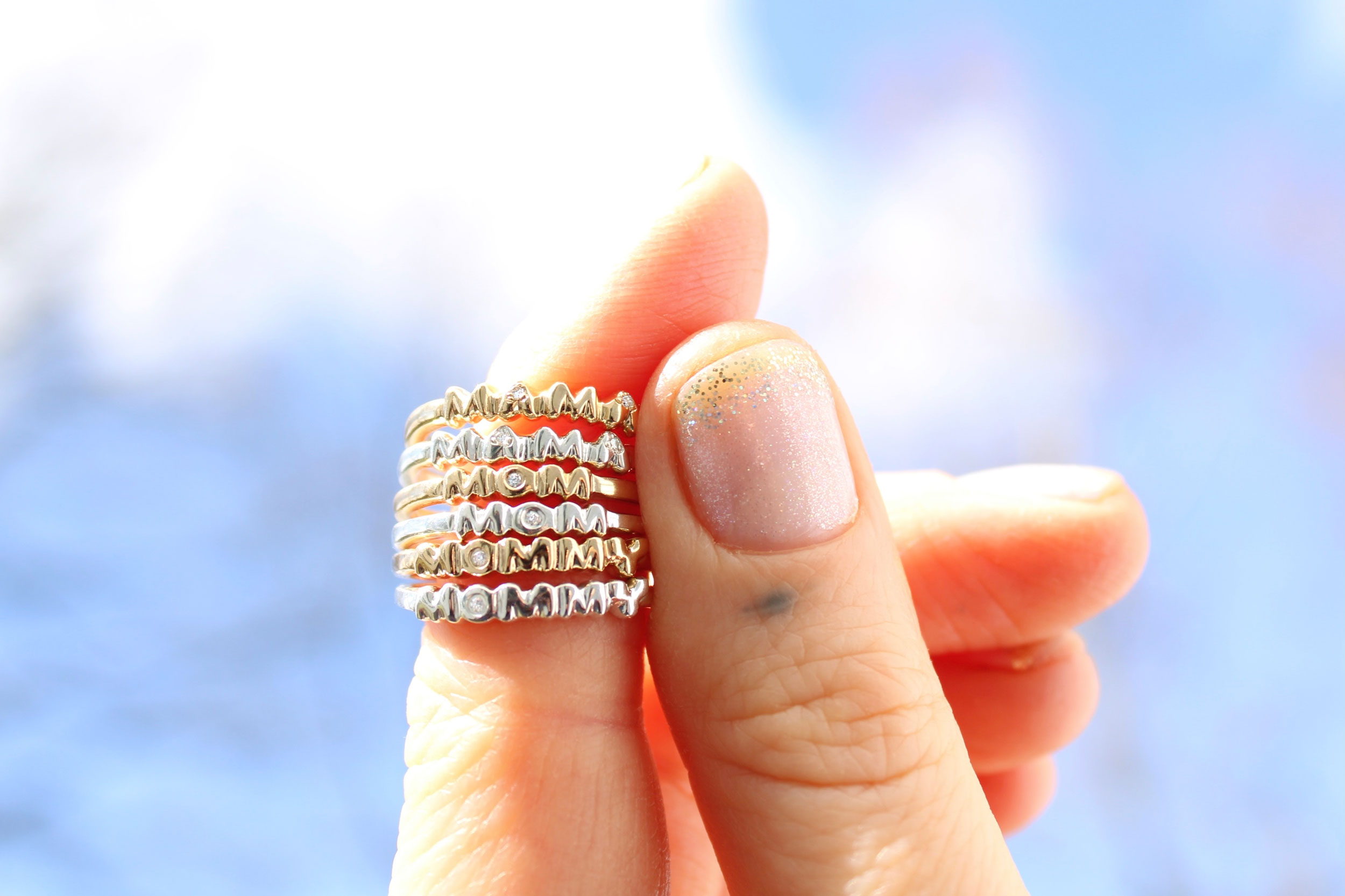 mom ring mommy ring mama ring mother jewelry diamond gold
