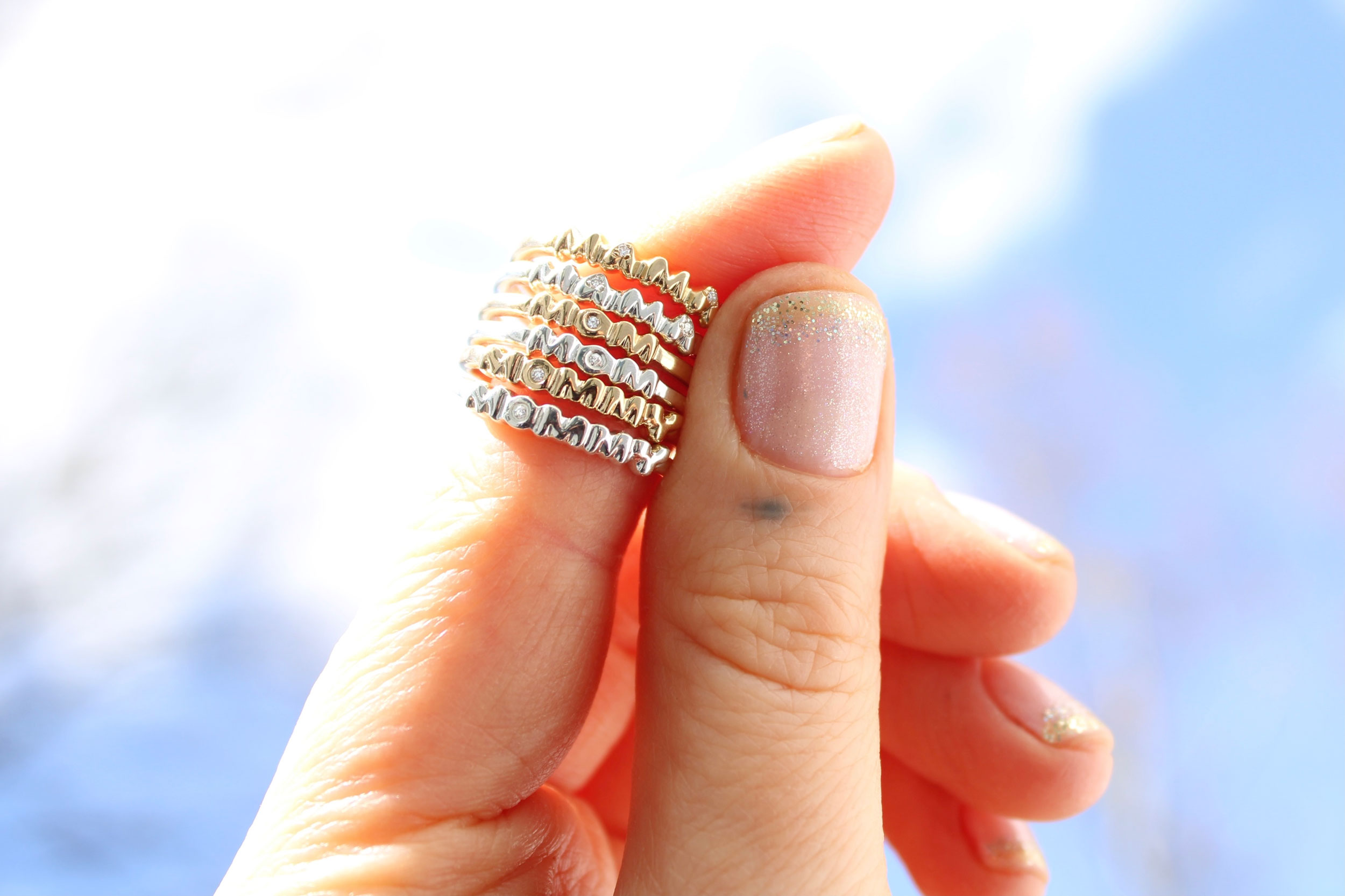 mom rings mommy rings mama rings mother jewelry diamond gold