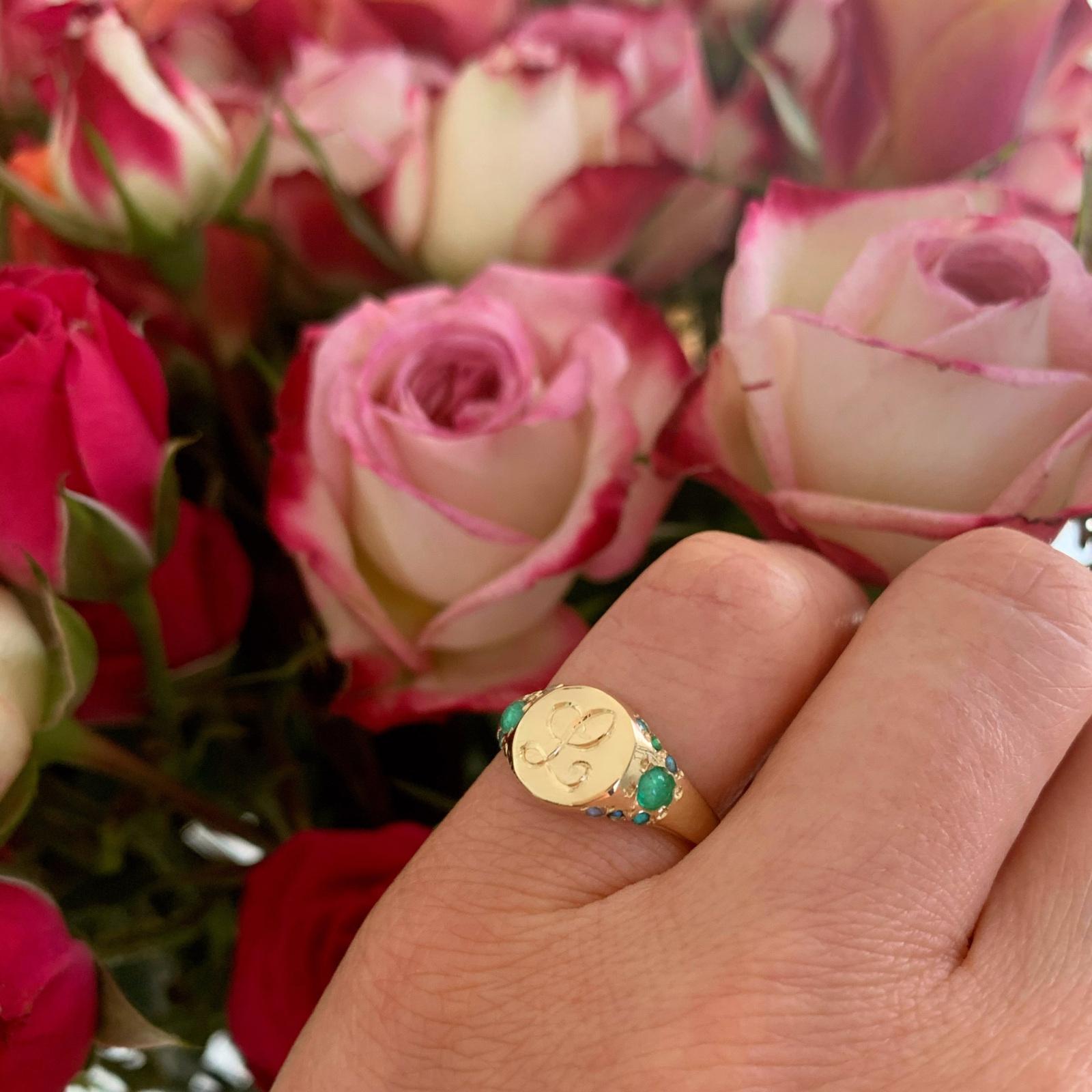 spring new ring custom large signet ring
