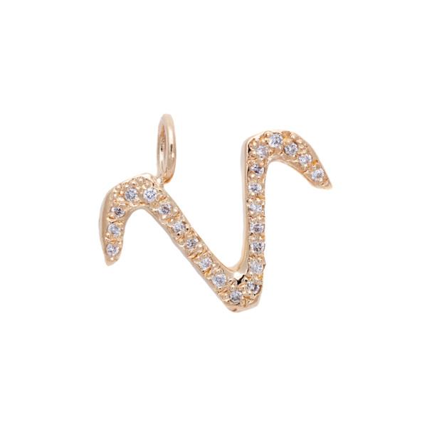 Aries charm necklace zodiac jewelry yellow gold