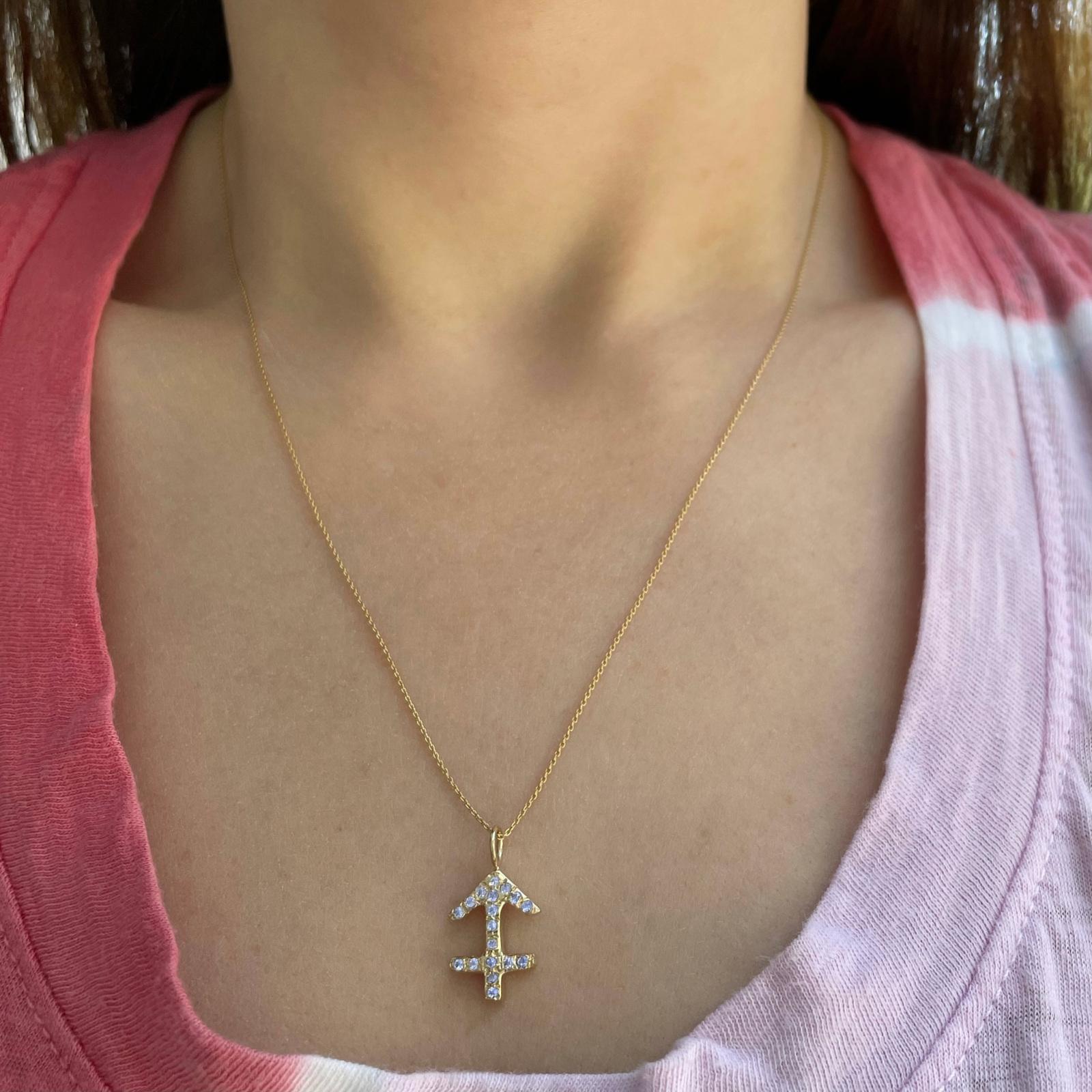 Sagittarius zodiac sign charm pendant necklace