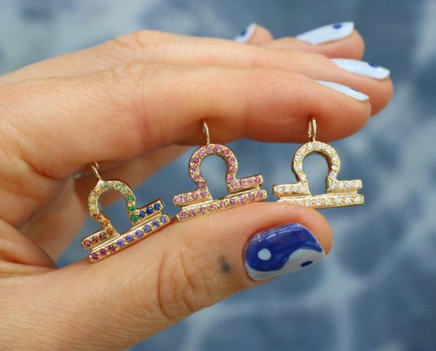 custom libra charm jewelry